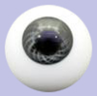 Dark Grey Solid Glass Paperweight Eyes